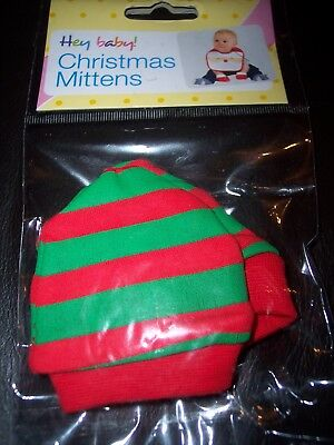 Christmas Elf Baby scratch mitts/mittens