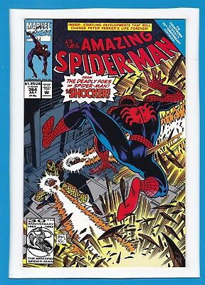 """Amazing Spider-Man #364_July 1992_Nm_""""spider-Man's Deadly Foes""""_The Shocker!"""