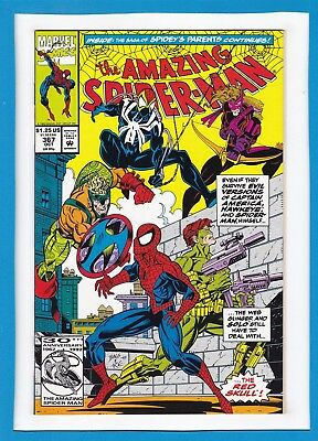 Amazing Spider-Man #367_October 1992_Near Mint_Red Skull_Spidey's Parents!