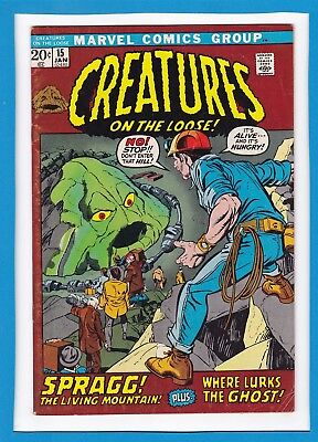 """Creatures On The Loose #15_January 1972_Fine+_""""spragg The Living Mountain""""!"""