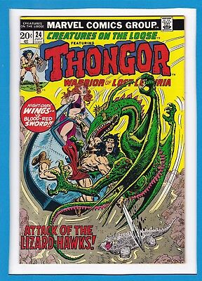 Creatures On The Loose #24_July 1973_Vf Minus_Thongorr, Warrior Of Lost Lemuria!