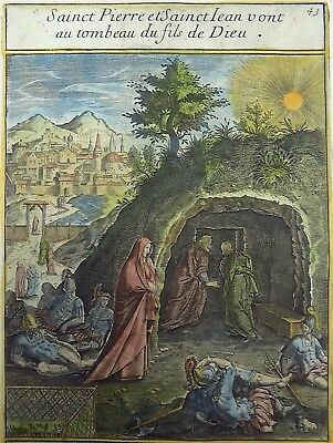 1593 NATAL Wierix Collaert Vos Galle PASSION TABLEAU Tomb of Christ SAINT PETER