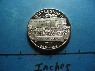 Rattlesnake Mccoy Cove Mine Operation Scorpion 1994 Quality Rare 999 Silver Coin