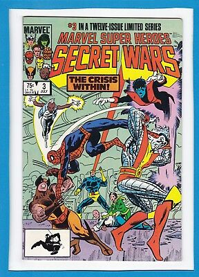"""Marvel Super Heroes Secret Wars #3_July 1984_Near Mint Minus_""""the Crisis Within"""""""