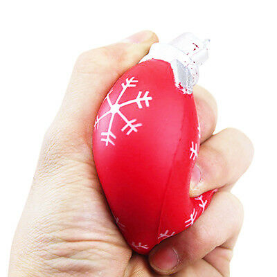 Christmas Ball Cream Scented Squishy Slow Rising Squeeze Toys Phone Charm