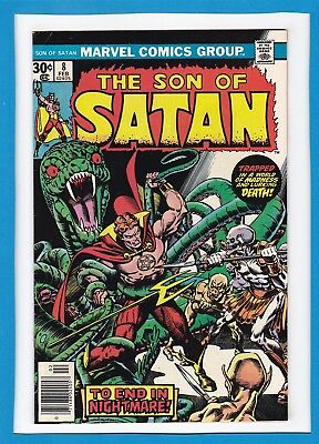 """The Son Of Satan #8_Feb 1977_Vf Minus_""""to End In Nightmare""""_Bronze Age Horror!"""