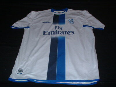 Chelsea Football XL Extra Large Mans Vintage Zola No25 EPL Home Top Italia Italy