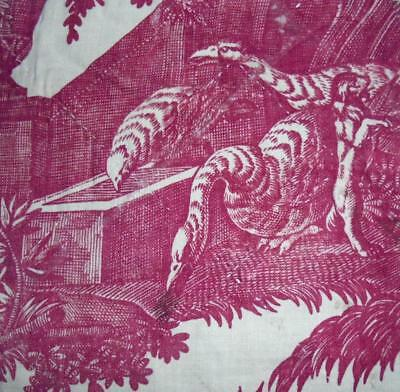 BEAUTIFUL FRAGMENT 18th CENTURY FRENCH TOILE DE JOUY c1790s, REF, PROJECTS
