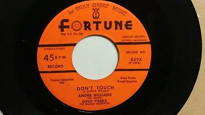 45 RPM Andre Williams FORTUNE 839 Don't Touch  ROCKER  VG+