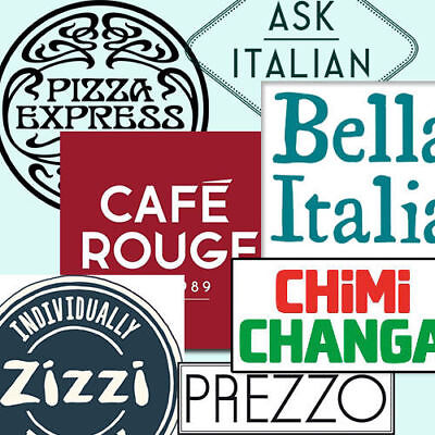 £40 Restaurant Vouchers BELLA ITALIA or CHIMI CHANG or CAFE ROUGE or ZIZZI