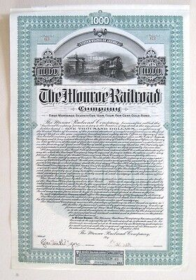 Monroe Railroad (Georgia) $1000 Bond 1904