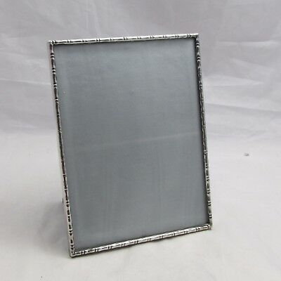 Superb Hallmarked Sterling Silver 'bamboo' Design Photo Frame A E Jones 1988