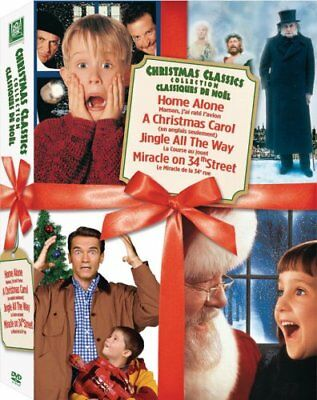 Christmas Classics 4 Movie Collection [DVD Box Set, Home Alone, Christmas Carol]