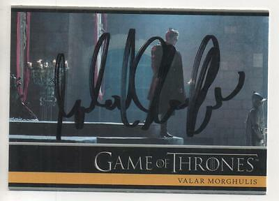 """Game of Thrones Trading Card No.28 Auto by Michael Shaeffer """"Stark Soldier"""""""