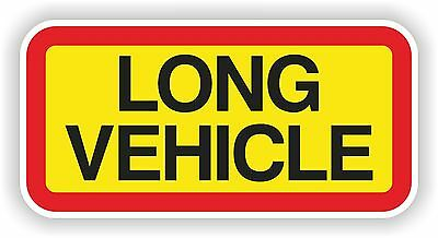 1x Long Vehicle Warning Sticker for Safety Truck Car Bumper SUV Door Laptop PC