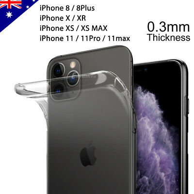 iPhone X XS MAX XR 8 Plus Case Ultra Slim Silicone Clear Cover Skin for Apple