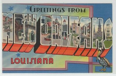 [66336] OLD LARGE LETTER POSTCARD GREETINGS from NEW ORLEANS, LOUISIANA