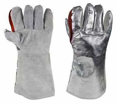 Heat Shield Glove MagnaShield® Aluminised Kevlar® Heat Shield Glove Leather Palm