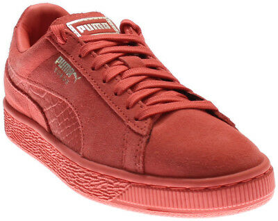 Puma Suede Classic Mono Reptile Running Shoes- Pink- Mens