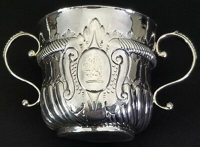 Antique 19Th Century English Sterling Silver Porringer Cup