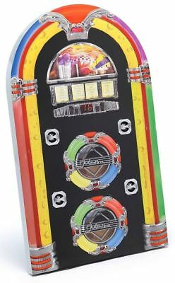 Steepletone Large Slim Wall Mounted Bluetooth Jukebox With 4 Speakers Usb Aux