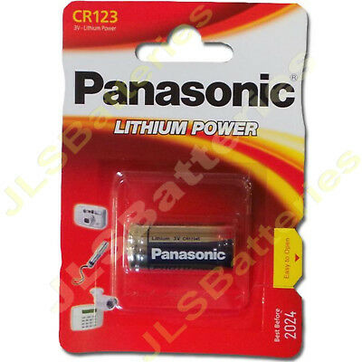 12 x Panasonic CR123 LITHIUM Photo Batteries CR123A , 123