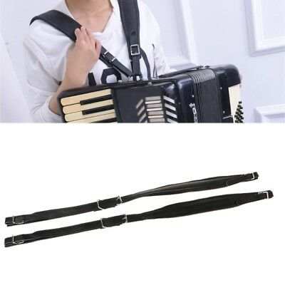2x Synthetic Leather 16-120 Bass Accordions Shoulder Straps Adjustable 83-110cm