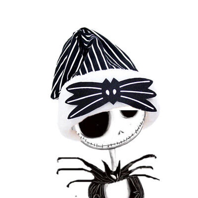 Cosplay Nightmare Before Christmas Jack Skellington Santa Hat Plush Cap Gift New