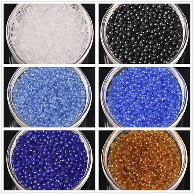 100pcs 4mm Solid Faceted Rondelle Crystal Glass Loose Small Beads DIY Crafts