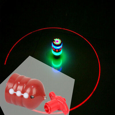 Light up Gyro Gyroscope Flashing Humming Spinning Top Baby Child Toy Xmas Gift
