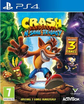 Crash Bandicoot N. Sane Trilogy (PS4)  BRAND NEW AND SEALED - QUICK DISPATCH