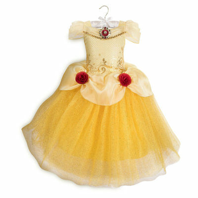 Disney Authentic Belle Beauty & the Beast Girls Princess Costume Size 3 5/6 9/10