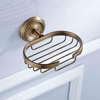 Stainless Steel Wall Mount Bathroom Shower Soap Dish Holder Cup Tray Basket