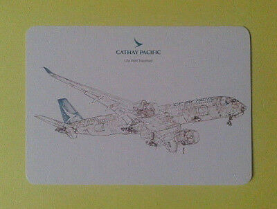 Airline-Issued Postcard / Cathay Pacific / Airbus A350-941