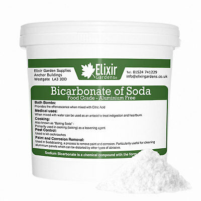 Bicarbonate of Soda - | 250g - 25Kg | Best Grade | Bath Bombs | Bag or Bucket