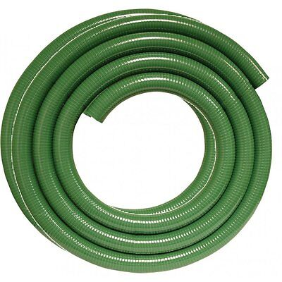 """Suction hose 2"""" Delivery Pump Drainage 7 Bar 5 Metre Coil Green Meter 50mm Roll"""