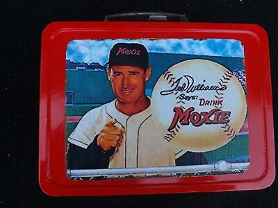 Vintage RARE Ted WIlliams Moxie Root Beer Metal Lunchbox GRADED CARD RED SOX