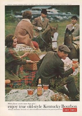 1962 Early Times Kentucky Bourbon Whiskey Louisville KY Vintage 1960s Photo Ad