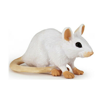 Papo 50222 White Mouse Animal Figurine Rodent Toy Model Replica 2017- NIP