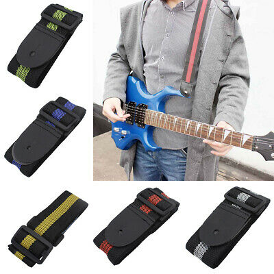 Adjustable Guitar Strap Leather End for Acoustic Electric and Bass Guitars