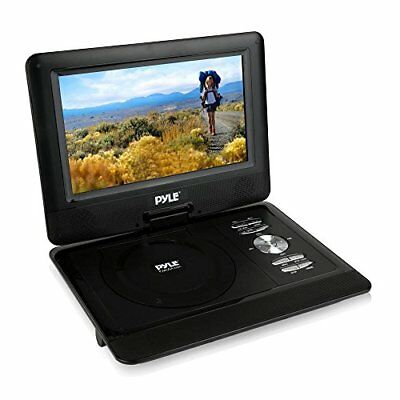 "10"" DVD Player HD Portable CD Player, Swivel Widescreen,USB/SD Card Reader -Blue"