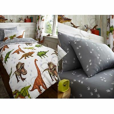 Rawrsome Dinosaur T-Rex Duvet Cover Fitted Sheet Bedding Sets - Sold Separately