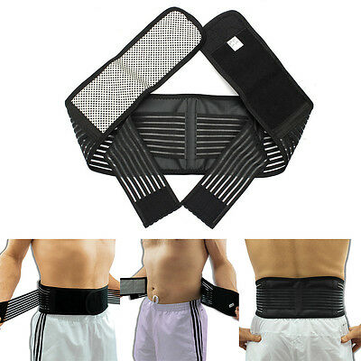 Lower Back Support Belt Infrared Magnetic Lumbar Brace Double Pull Strap Pain UK