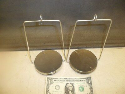 """PAIR of 4"""" HANGING SCALE PANS 8"""" LONG for MICROBALANCE"""