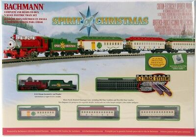 Bachmann N 24017 Spirit Of Christmas Train Set with E-Z Track  BAC24017-NEW