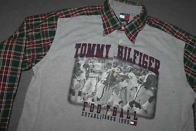 YL or adult S * vtg 90s TOMMY HILFIGER L/S shirt * 13.147