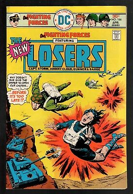 Our Fighting Forces #166 VG/FN 5.0 DC Bronze Age War 1976 The Losers!!!