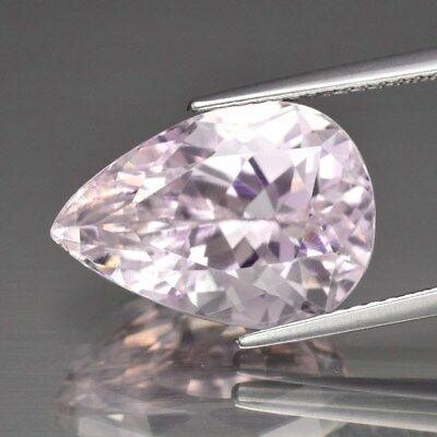 9.45ct 15.5x11mm Pear Natural Untreated Pink Kunzite, Gorgeous!
