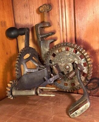 Antique Apple Peeler Pat. Feb. 1882 Table Mount