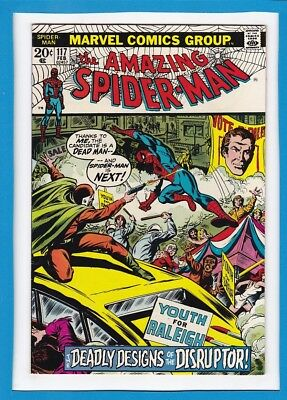 """Amazing Spider-Man #117_February 1973_Fine_""""deadly Designs Of The Disruptor""""!"""